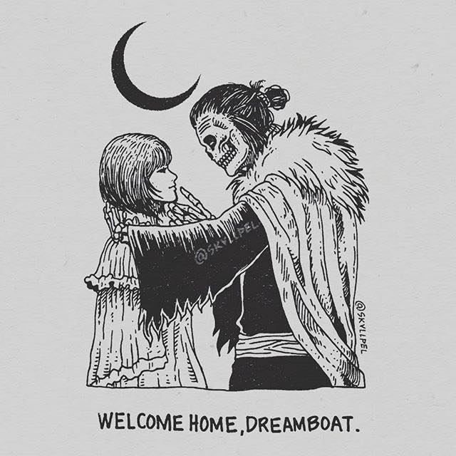 Artist's Skeletal Illustrations Show The Glimpse Of Intense Love With Beautiful Messages-20