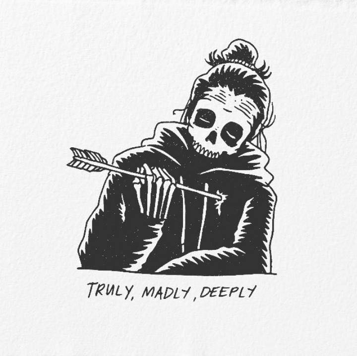 Artist's Skeletal Illustrations Show The Glimpse Of Intense Love With Beautiful Messages-25