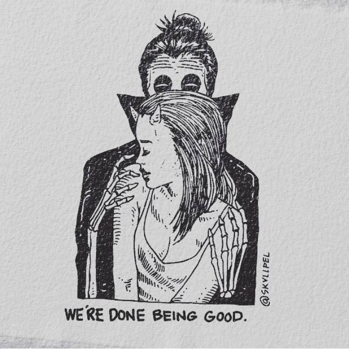 Artist's Skeletal Illustrations Show The Glimpse Of Intense Love With Beautiful Messages-27