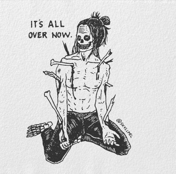 Artist's Skeletal Illustrations Show The Glimpse Of Intense Love With Beautiful Messages-4