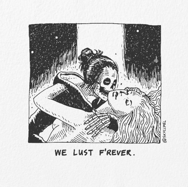 Artist's Skeletal Illustrations Show The Glimpse Of Intense Love With Beautiful Messages-5