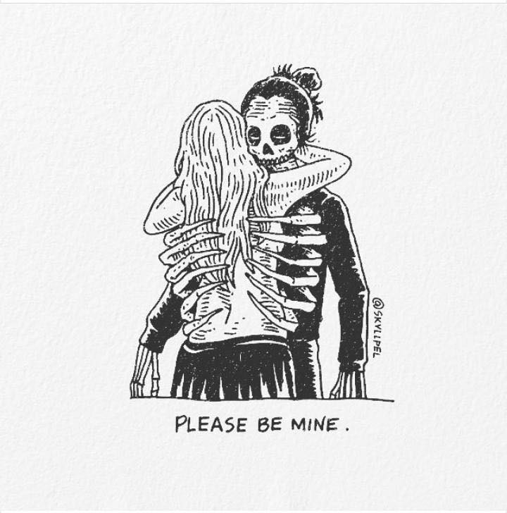 Artist's Skeletal Illustrations Show The Glimpse Of Intense Love With Beautiful Messages-8