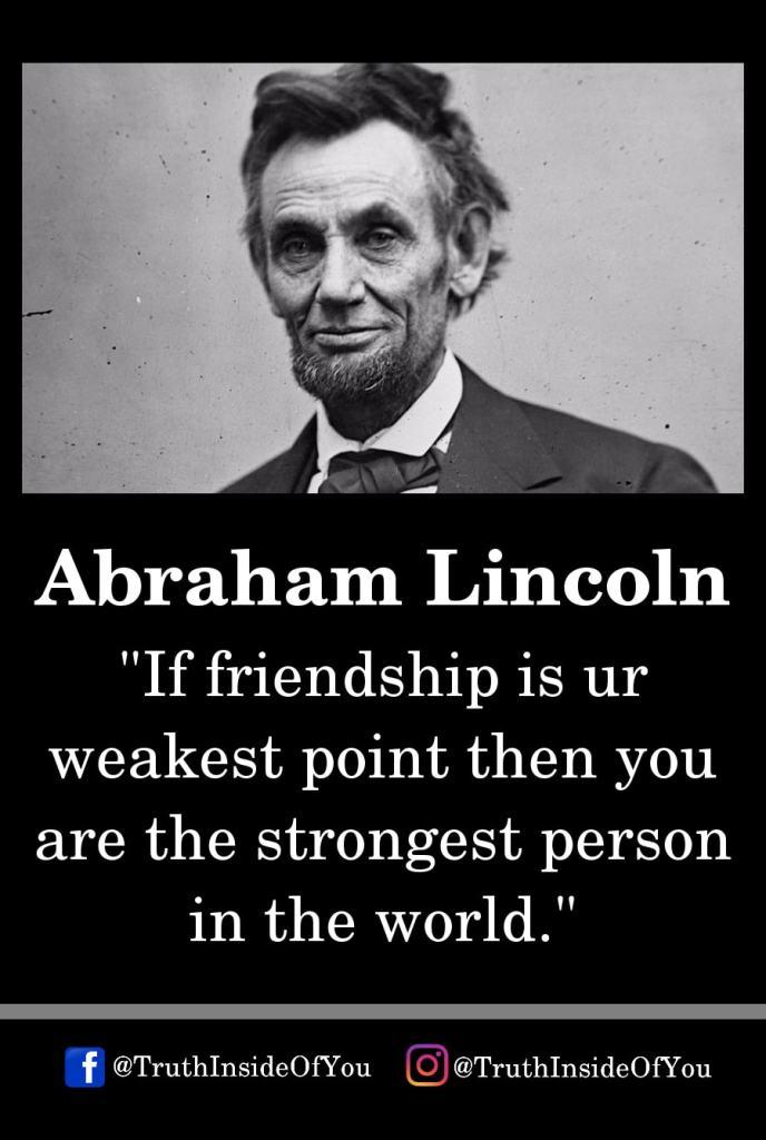 1. Abraham Lincoln