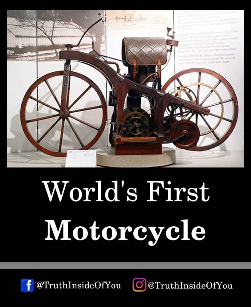 13. World's First Motorcycle