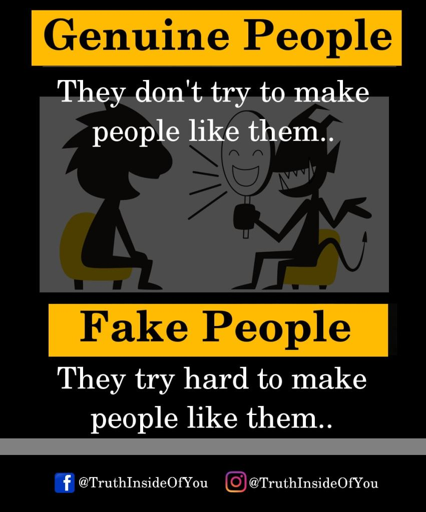 They don't try to make people like them. They try hard to make people like them.