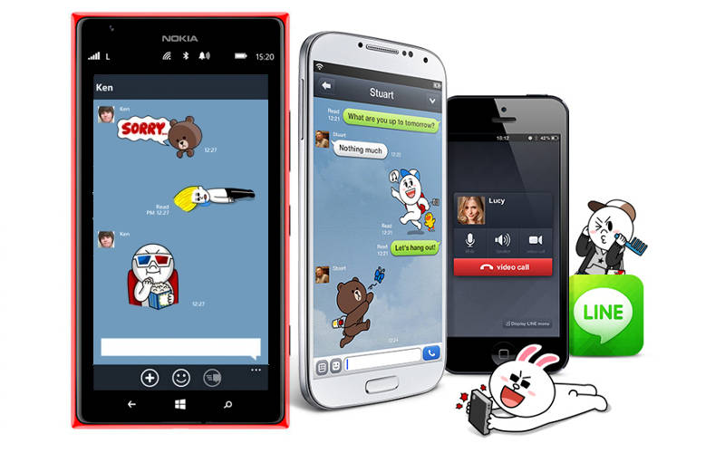 LINE for Windows Phone, Android, iPhone