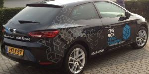 autobelettering The Box Almelo