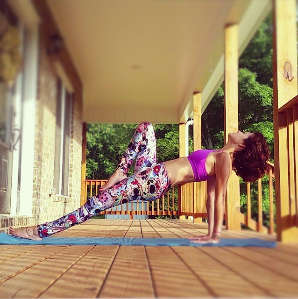 Upward Plank Pose by Lalamalie for TryBelle Magazine