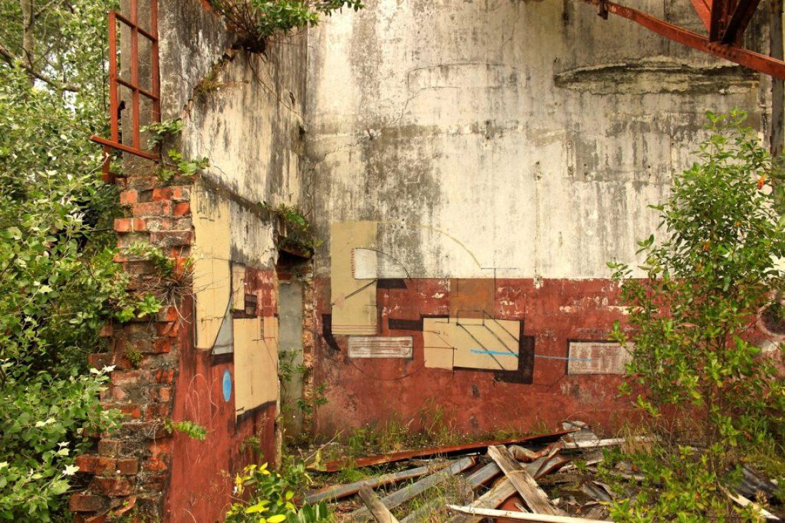 Blocked Pathways at the Tokomaru Ruins New Zealand