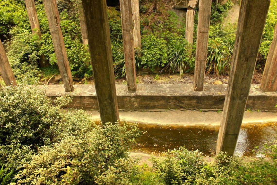 Crumbling Structures at the Tokomaru Ruins New Zealand