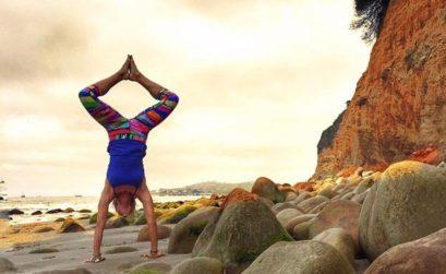 Adhomukhavrsasana Handstand by Leslie Storms