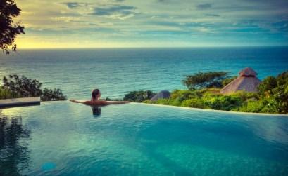 The pool at Haramara Retreat