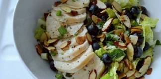 Cruncy Blueberry Chicken Salad