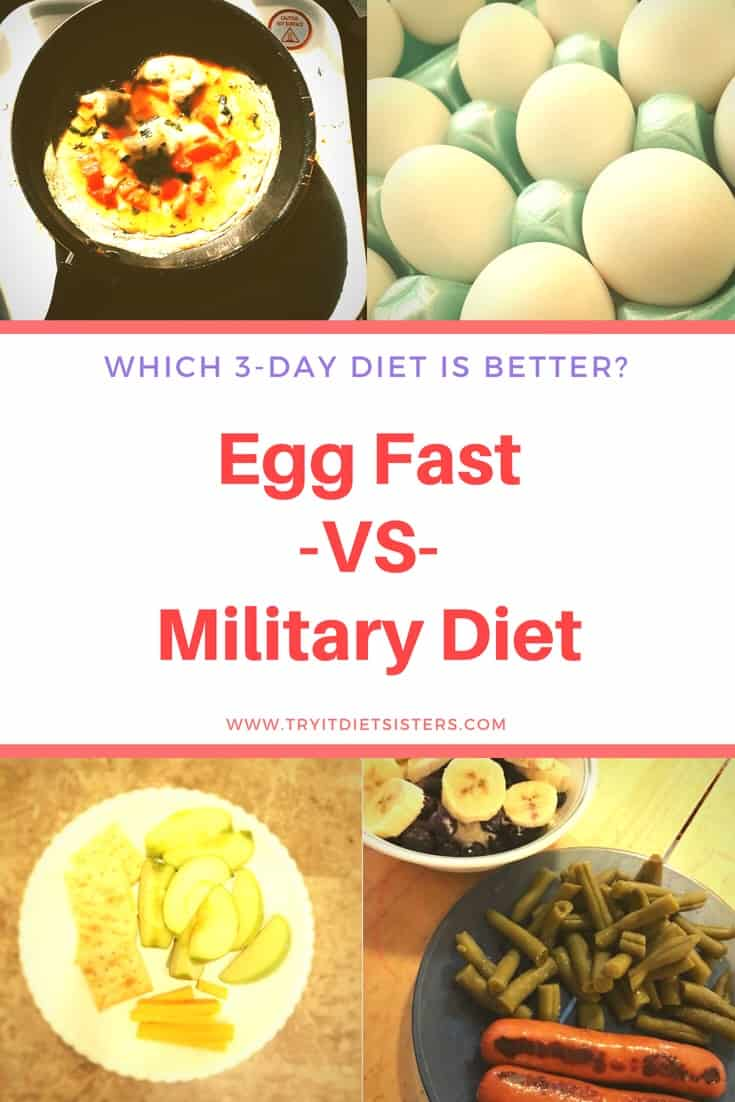 Military 3 Day Diet Vs 3 Day Egg Fast Try It Diet Sisters