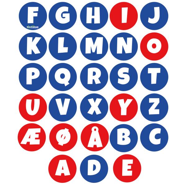 Alfabetet med vokaler og konsonanter