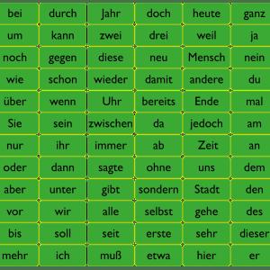 120 ord på tysk