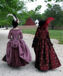 Sarah and Trystan at Colonial Williamsburg, photo from Lindsey