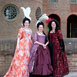 Lindsey, Sarah, and Trystan at Colonial Williamsburg, photo from Lindsey