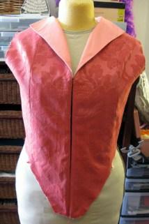 Pink Florentine in progress