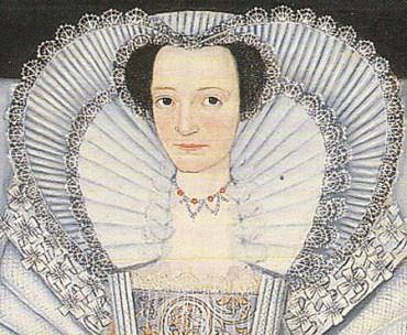 1600 - One of the Cholmondeley Sisters (image source: elizabethan-portraits.com)