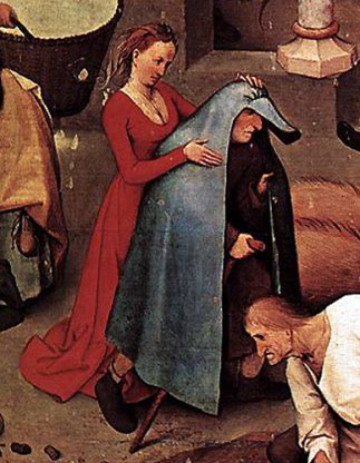 1559, detail from Netherlandish Proverbs by Pieter Bruegel the Elder