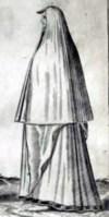 """Woman from """"Omnium pene Europae, Asiae, Aphricae atque Americae Gentium Habitus"""" by Abraham de Bruyn 1591"""