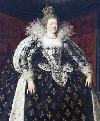 1610 - Queen Marie de Medici of France by Frans Pourbus II (image source: Wikimedia Commons)