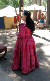 back of Venetian gown