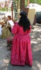 Venetian courtesan gown back