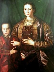 1550s - Eleonora di Toledo by Bronzio (image source: Wikimedia Commons)
