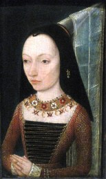 1468-70, Margaret of York, anonymous portrait, at the Louvre