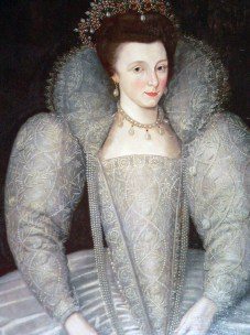 1590s, Elizabeth Vernon, maid of honour to Queen Elizabeth I, attributed to Marcus Gheeraerts the Younger