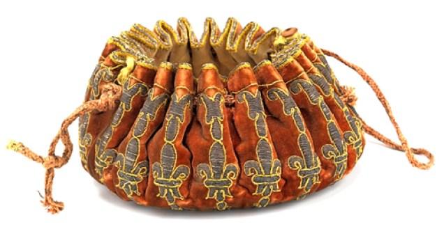 17th-c. gaming purse. Image source: Metropolitan Museum of Art
