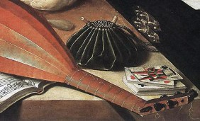 "1630s, detail from ""The Five Senses"" by Lubin Baugin. Image source: Wikimedia Commons"