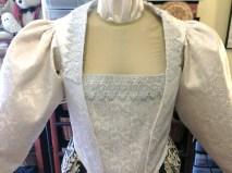 closeup of 1590s bodice