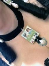 My book choker & earrings