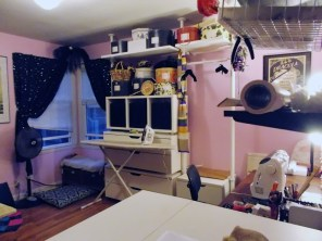 reorganized sewing room