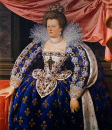 Maria de'Medici, Regent of France, 1611, by Frans Pourbus the Younger, image from Wikimedia Commons.