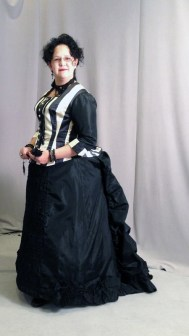 1870s bustle gown made by Kendra, altered to fit me.