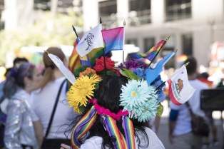 Pride wreath, SF Pride Parade 2017