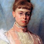 Therese Schwartze, 1918, wearing eyeglasses