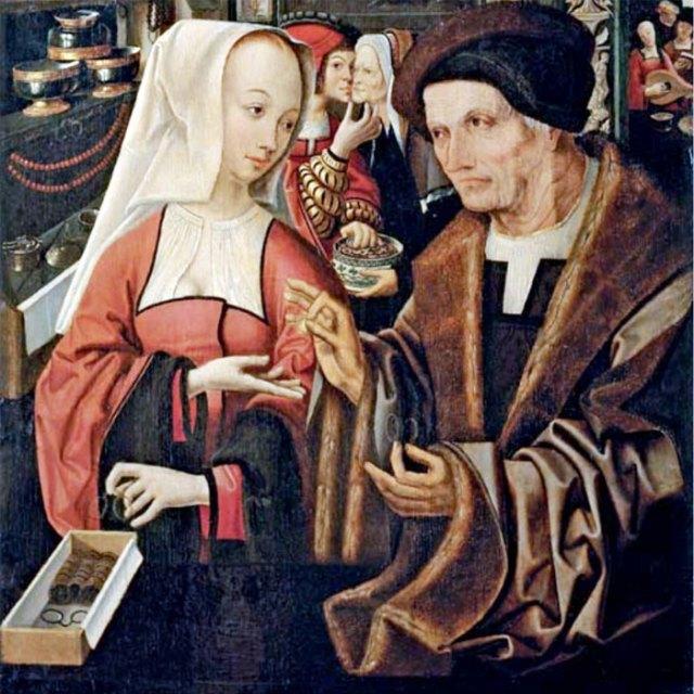 Studio of Jacob Cornelisz. van Oostsanen (Utrecht? c. 1472/7-before 1533) - 'The Ill-Matched Lovers'