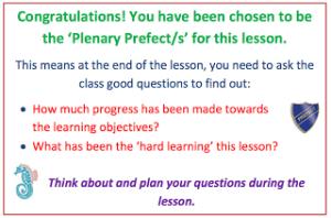 Plenary Prefects