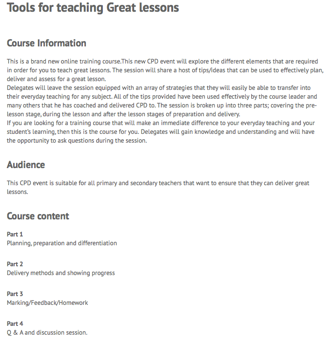 Tools for Great Lessons.