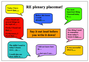 Plenary Placemats