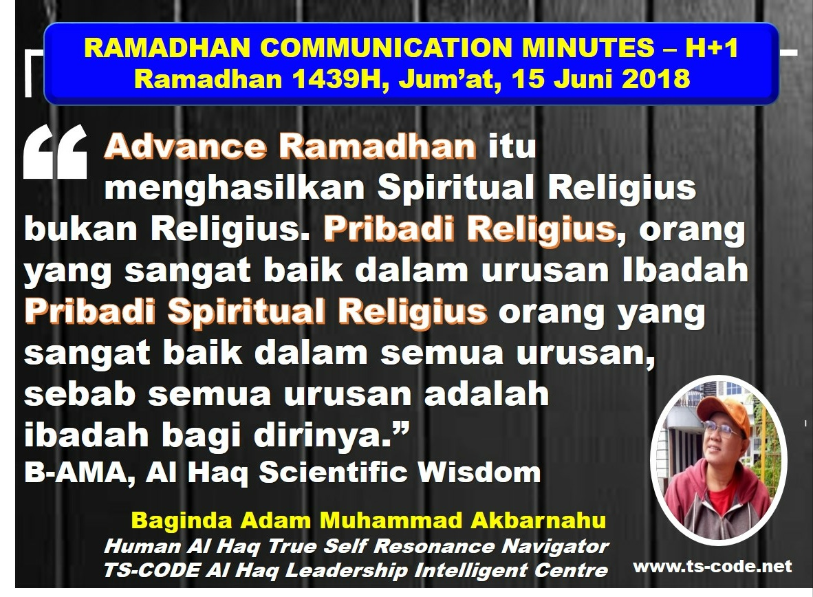 RAMADHAN 1439H COMMUNICATION MINUTES, DAY 30