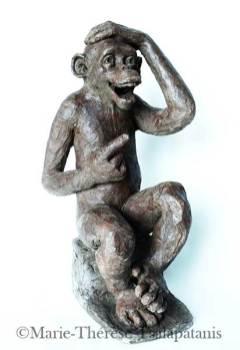 sculpteur-sculpture-marie-therese-tsalapatanis-singe