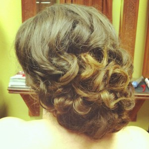 Bridal updo, Wedding hair