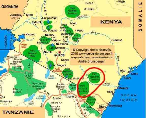 Safari Tsavo Ouest 2jours en camp Kenya depuis Diani