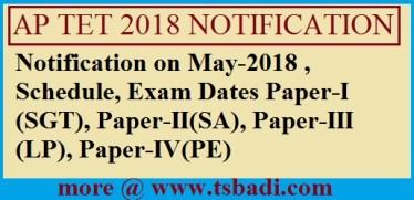 AP-TET 2018 Notification, Guidelines, Syllabus, Exam Pattern,
